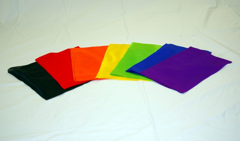 8 Solid Color Rice Silks - new condition