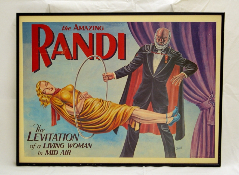 Amazing Randi half sheet poster