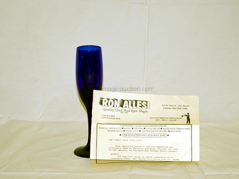 Cobalt Blue Coin Glass