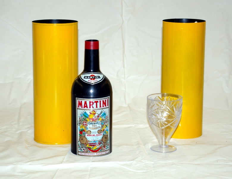 Comedy Passe-Passe Bottle and Glass
