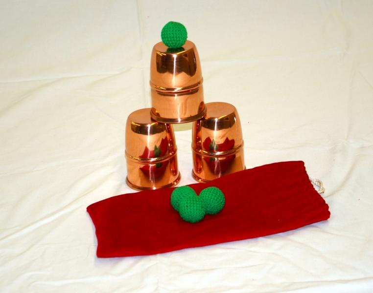 Copper Combo Chop Cup-Cups & Balls Set