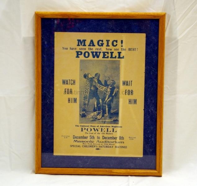 Framed Powell Flyer-Poster