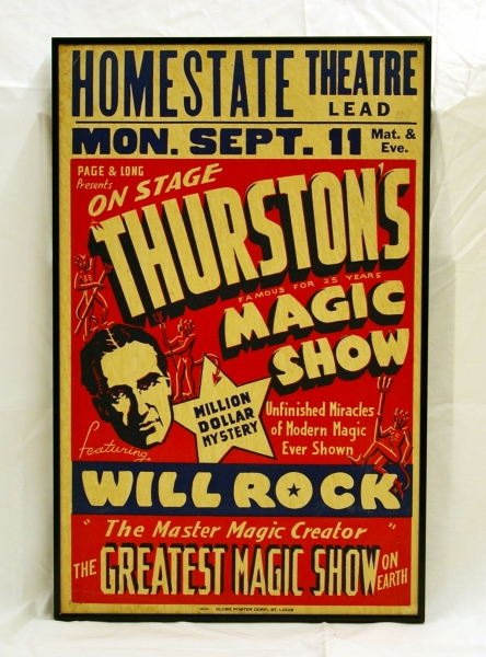 Framed Thurston Magic Show - Will Rock Window Card
