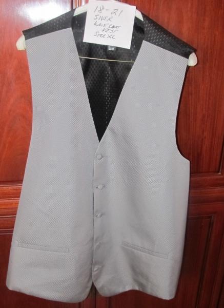 18-20 Silver waistcoat vest