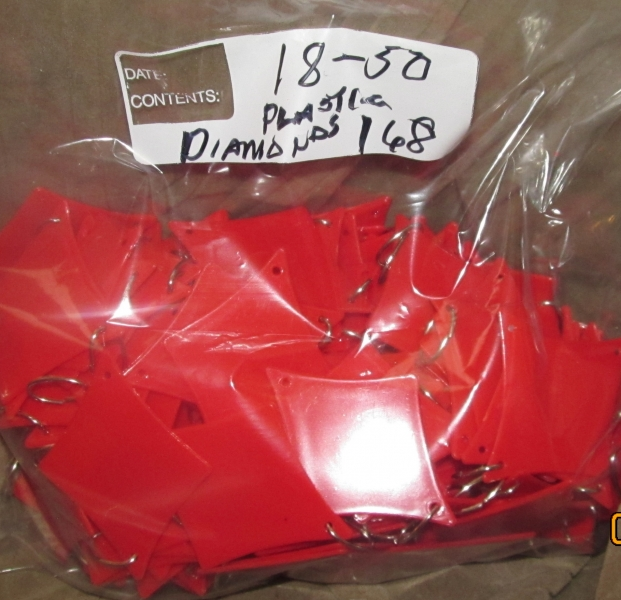 18-50 Plastic Diamond Pips