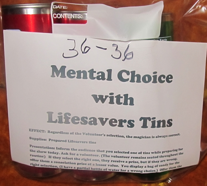 36-36 Mental Choice with Lifesavers